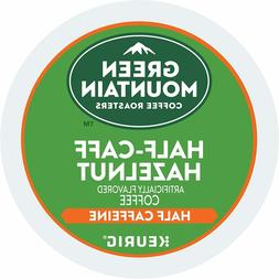 Green Mountain 1/2 Half Caff Hazelnut Keurig Coffee 24 Count