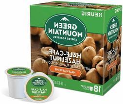 Green Mountain 1/2 Half Caff Hazelnut Keurig 18 Coffee k-cup