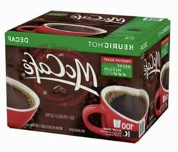100 McCafe Decaf Premium Roast Coffee K Cups  Exp 5/21