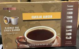 100 K-CUPS Caza Trail Coffee Kona Blend Medium Roast