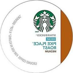 12 Count- Starbucks Decaf Pike Place Roast Coffee K-Cups For