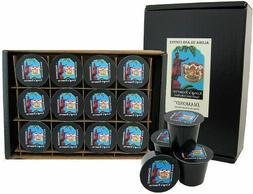 - 12 K-cups of Kona Hawaiian Coffee Blend, Custom Medium