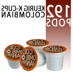 192 count K-Cups Colombia Coffee Colombian Roast Medium Roas