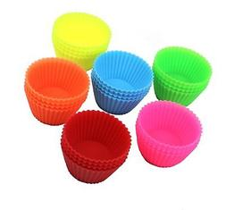 24 Pack - DecoBros Silicone Baking Muffin Cup Cupcake Liners