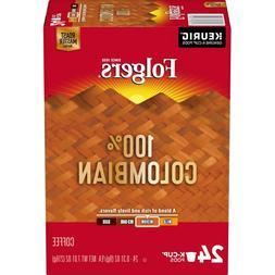 24 K-Cups Pure 100% Colombian Folgers Coffee Medium Roast En