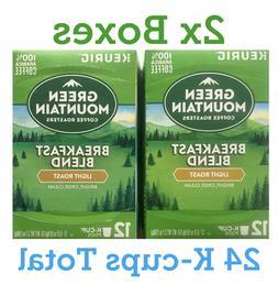 2x Green Mountain Coffee Breakfast Blend 24 K-cups, Light Ro