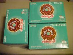 3-18-PK  of Donut shop  medium roast coffee   K-Cups  w/free