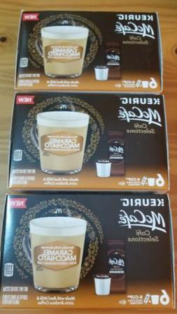 3 Keurig McCafe Latte Coffee K-Cup Pods & Milk Frother Caram