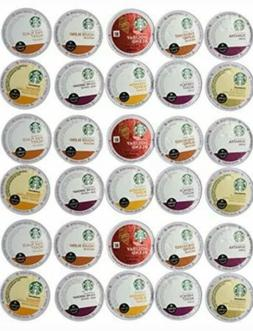 30 Count - Variety Pack of Starbucks Coffee K-Cups for All K