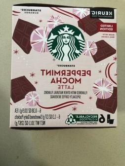 30 Starbucks Peppermint Mocha Latte K-Cups - Limited Edition