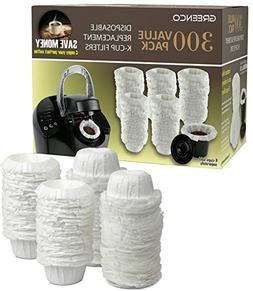 Greenco 300 Disposable Replacement K-Cup Filters Compatible