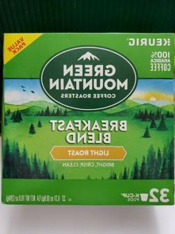 32 K-Cup Green Mountain Coffee Roasters Breakfast Blend Sing