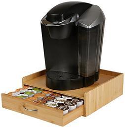 Mind Reader 36 Capacity Bamboo K-Cup Single Serve Coffee Pod