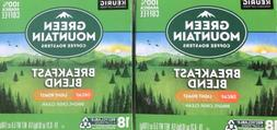 36 Count Green Mountain Coffee Decaf Breakfast Blend Light R