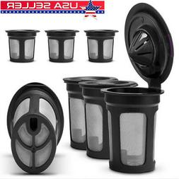 3PC Refillable Reusable Single K-Cups Filter Pod System for