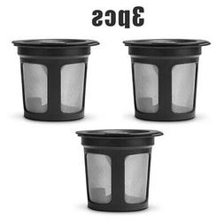 3X Reusable Refillable Single K-Cups Filter Pod System For K