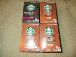 4 Starbucks 3-House Blend/ 1-Sumatra Coffee Keurig K-Cups 10