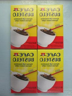 4 NEW Boxes of Cafe Bustelo Espresso Instant Coffee 6 Packet