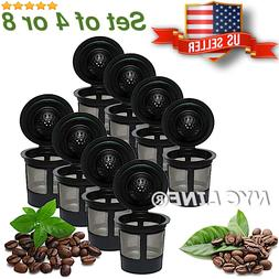 4 or 8 - Reusable K-Cups, Refillable K Cup Coffee Filters Fo