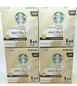4 Starbucks White Chocolate Mocha Caffe Latte 24 K-Cups + 24