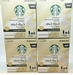 4 Starbucks White Chocolate Mocha Caffe Latte 24 K-Cups + 24