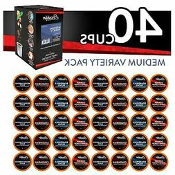 40 Brooklyn Beans Medium Roast Coffee Pods Variety Pack for