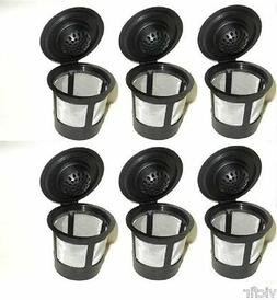 6 Reusable Refillable K-Cups Pods Compatible with Keurig Cof