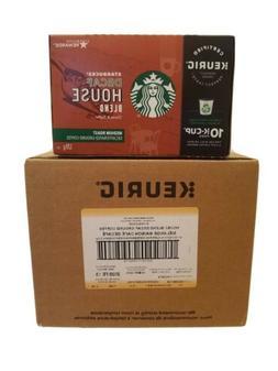 60 Cnt Starbucks House Blend Keurig Pods, Decaf, K-Cups 10 C
