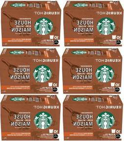 60 K Cups Starbucks House Blend Medium Roast Ground Coffee 6