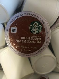 64 Starbucks House Blend Medium Roast Single. Keurig Brewers