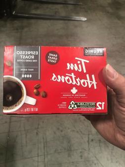 72 KEURIG K-CUPS Tim Hortons Espresso Roast coffee DARK hort