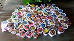 75 K-Cups /Pods Lot~ Coffee~Tea~Hot Cocoa~Cappuccino~Macchia