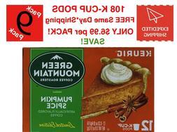 9 X Pumpkin Spice Green Mountain Coffee 12 K Cups EACH 108 K