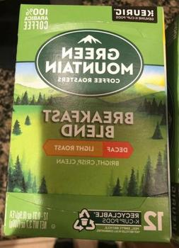 96 Count Green Mountain Coffee Decaf Breakfast Blend Light R