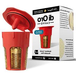 DI ORO - MaxBrew 24K Gold Reusable K-Carafe Filter for Keuri