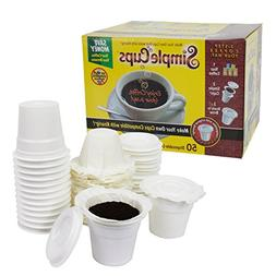 Disposable Cups for Use in Keurig Brewers - Simple Cups - 50