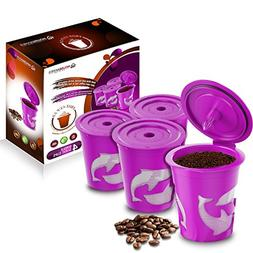FROZ-CUP 2.0-4 Refillable/Reusable K Cups for Keurig 2.0 - K