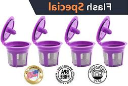 Fill N Save 4 Reusable K Cups, Refillable Keurig Filters for