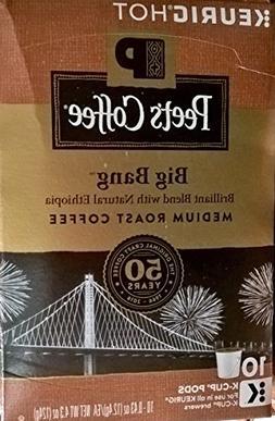 Peet's Coffee, K Cup Single Serve, Big Bang, Medium Roast, 1