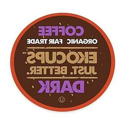 EkoCups Artisan Organic Dark Roast Coffee 40 to 160 Keurig K