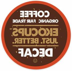 EkoCups Artisan Organic DECAF Light Coffee 40 to 160 Keurig
