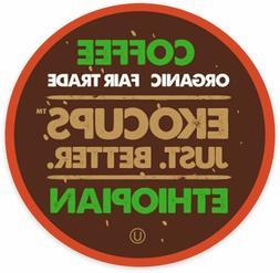 EkoCups Artisan Organic Ethiopian Coffee 40 to 160 Keurig K