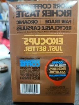 EkoCups Artisan Organic Guatemalan Coffee 40 K cups EXP:05/2