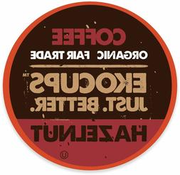 EkoCups Artisan Organic Hazelnut Flavored Coffee 40 to 160 K