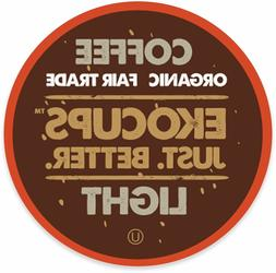 EkoCups Artisan Organic Light Gourmet Coffee 40 to 160 Keuri