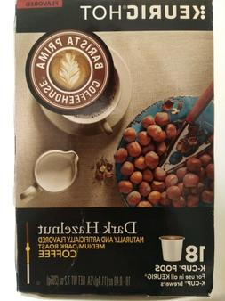 Barista Prima Dark Hazelnut Coffee Keurig K-Cups, 18 Count *