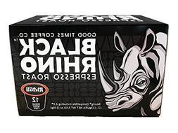 Black Rhino Espresso Roast Coffee, Single Serve Cups for Keu