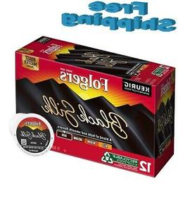 Folgers Black Silk Ground Coffee Kcup Pods, 12 ct