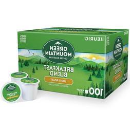 Green Mountain Breakfast Blend Coffee 100ct  Keurig K cups