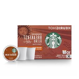 Starbucks Breakfast Blend Keurig Pods, Medium Roast Coffee -